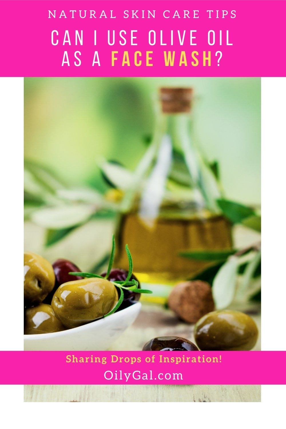 using olive oil for washing face