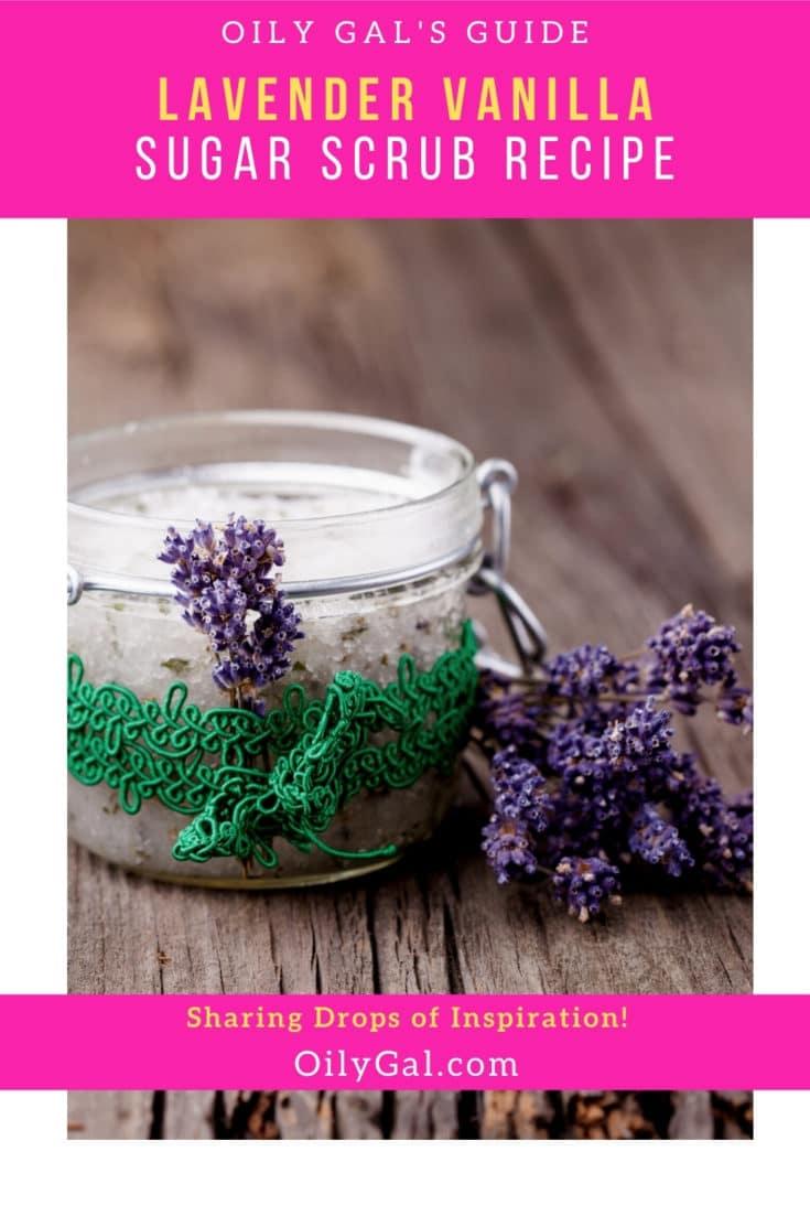 Lavender Vanilla Essential Oil Sugar Scrub